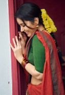 Raashi Khanna Hot Pics In Red and Green Saree HD