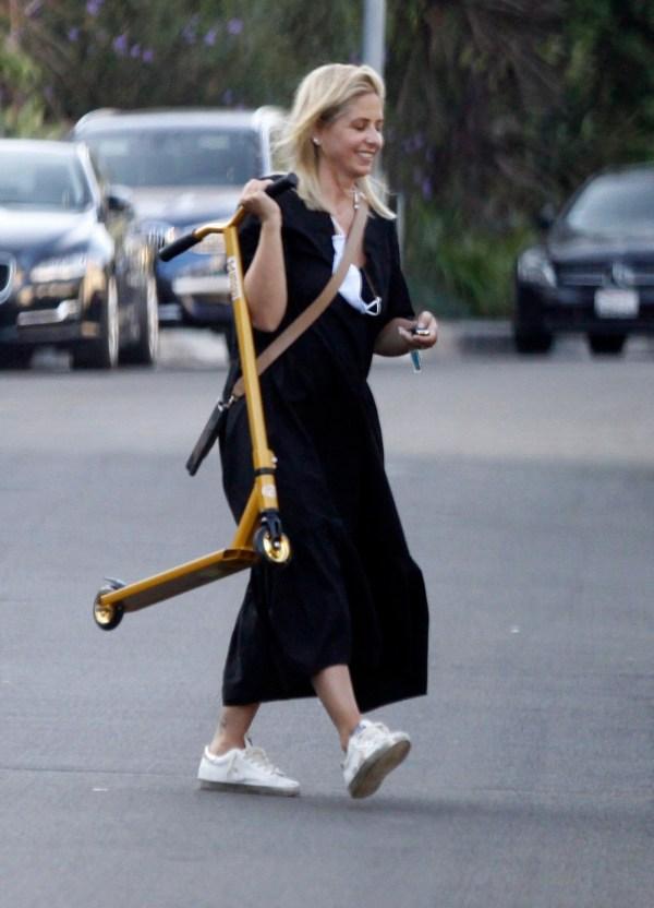 Sarah Michelle Gellar is all smiles during her walk
