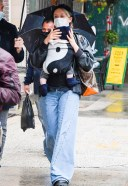 Chloe Sevigny And her baby take on the rainy streets of New York HD 13