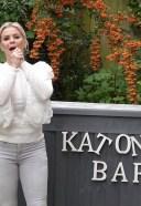 Kerry Katona hot and cute photos in white dress hd