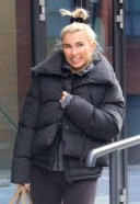 Billie Faiers seen leaving the ice skating rink with her choreographer