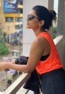 Eesha Rebba Hot Pics in Orange Dress HD 3