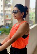 Eesha Rebba Hot Pics in Orange Dress HD