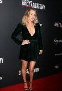 Jessica Capshaw Hot In BLack At Grey's Anatomy 300th Episode Celebration TAO