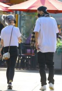 Kelly Osbourne and her boyfriend arrive for lunch at Chin Chin restaurant in West Hollywood