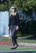 Molly Sims is pictured out and About in Los Angeles