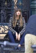 Rocky Barnes is spotted on a photoshoot in New York City