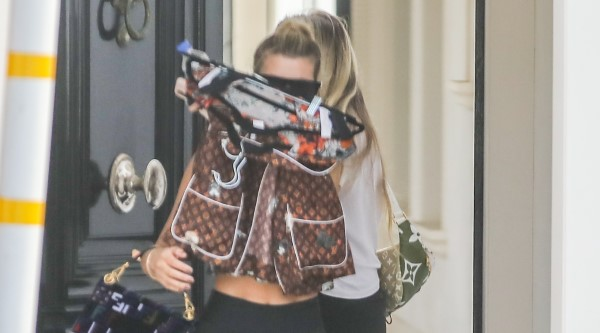 Sofia Richie keeps a low profile while out and about in Malibu