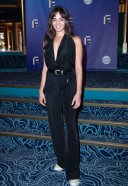 Souheila Yacoub No Man's HOt in Black at 22nd Festival de la Fiction Televisuelle at the Folies Bergeres Theater