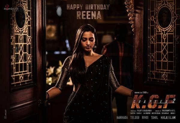 Wishing Reena Srinidhi Shetty a very Happy Birthday #HBDSrinidhiShetty #KGFChapter2 Poster HD