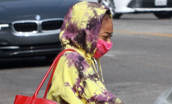 Skai Jackson Looks stylish in tie dye outfit as she leaves the DWTS studio after her dance practice in Los Angeles