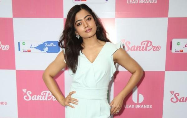 Rashmika Mandanna to be launch Sanipro sanitary napkins HD Photos