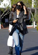 Camila Morrone has lunch with her mother at Mauros cafe in West Hollywood California