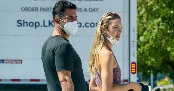 Candice Swanepoel seen walking the streets in Miami Beach Florida