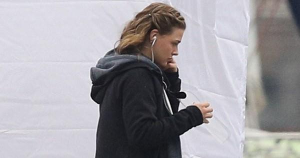 Chloe Grace Moretz seen filming on set in East Boston Massachusetts