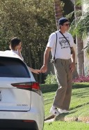 Jacob Elordi Kaia Gerber pictured holding hands while visiting friends in Hollywood