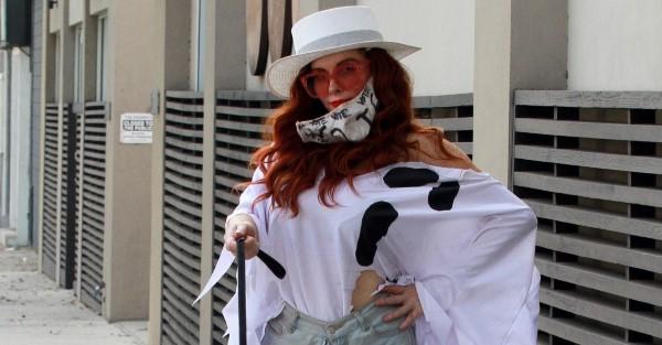 Phoebe Price Seen in the Halloween spirit in Los Angeles