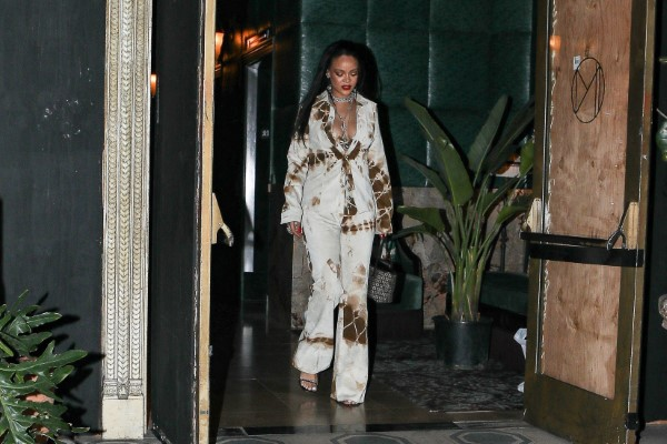 Rihanna looks stunning walking out of her hotel in downtown Los Angeles