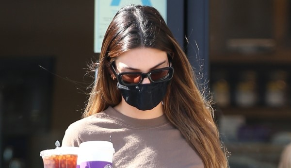 Kendall Jenner seen going for a coffee run at Coffee Bean and Tea in Beverly Hills