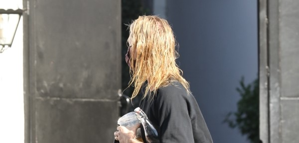 Cameron Diaz pictured leaving a hair salon in Los Angeles