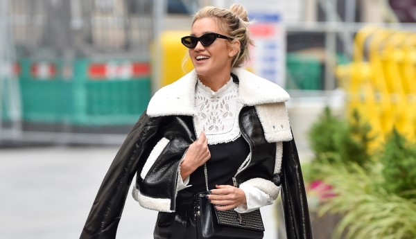 Ashley Roberts Pictured leaving the Global studios