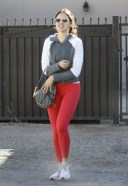 Eiza Gonzalez Looks happy after meeting up with a mystery man at a private residence in Los Angeles
