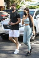 Chantel Jeffries and Andrew Taggart get a Juice after the gym
