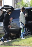 Jacob Elordi and Kaia Gerber stay cozy in sweats as they stop