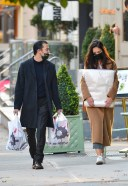 Katie Holmes And Emilio Vitolo Jr have their hands full while shopping in Manhattans Soho area