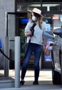 Olivia Wilde seen making a pit stop at a gas station