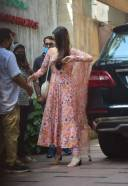 Shraddha Kapoor Spotted At Juhu in Pink Dress 13