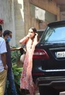Shraddha Kapoor Spotted At Juhu in Pink Dress