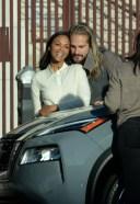 Zoe Saldana Out celebrating a covid-19 style birthday with her husband