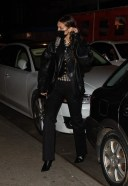 Bella Hadid rocks an all-black ensemble as she meets up with bestie