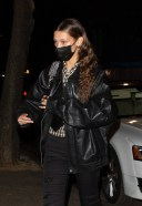 Bella Hadid rocks an all black ensemble as she meets up with bestie 3