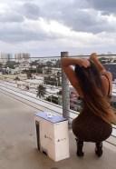 Claudia Romani gets a PS5 in Miami Beach 13