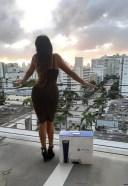Claudia Romani gets a PS5 in Miami Beach