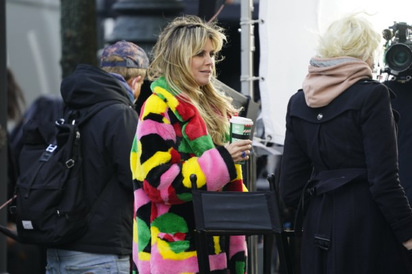 Heidi Klum On the shooting of the new season of Germanys
