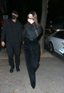 Kendall Jenner is ninja chic in an all-black ensemble