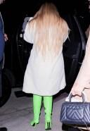Kylie Jenner arrives for dinner with friends in Santa Monica California