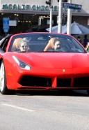Vanessa Hudgens seen leaving Dogpound gym in her red Ferrari