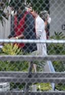 Ben Affleck and Ana de Armas on set in LA 13