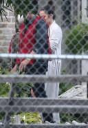 Ben Affleck and Ana de Armas on set in LA