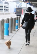 Catherine Zeta-Jones and her children Dylan and Carys are seen in LA