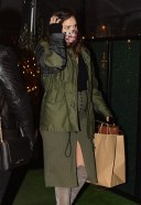 Katharine McPhee Conceals her baby bump in a green 23