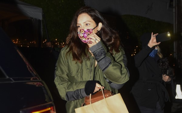 Katharine McPhee Conceals her baby bump in a green