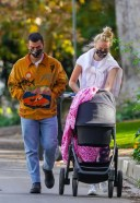 Sophie Turner Looking fabulous for a stroll with Joe Jonas and daughter