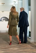 Melania Trump heading to the Republican National Convention in the Rose Garden