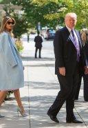 Melania Trump leave St.John's Church