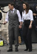 Hayley Atwell Handcuffed on the set of Mission Impossible 7